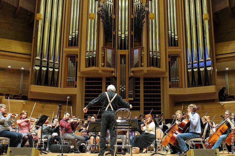Репетиция симфонического оркестра Москвы