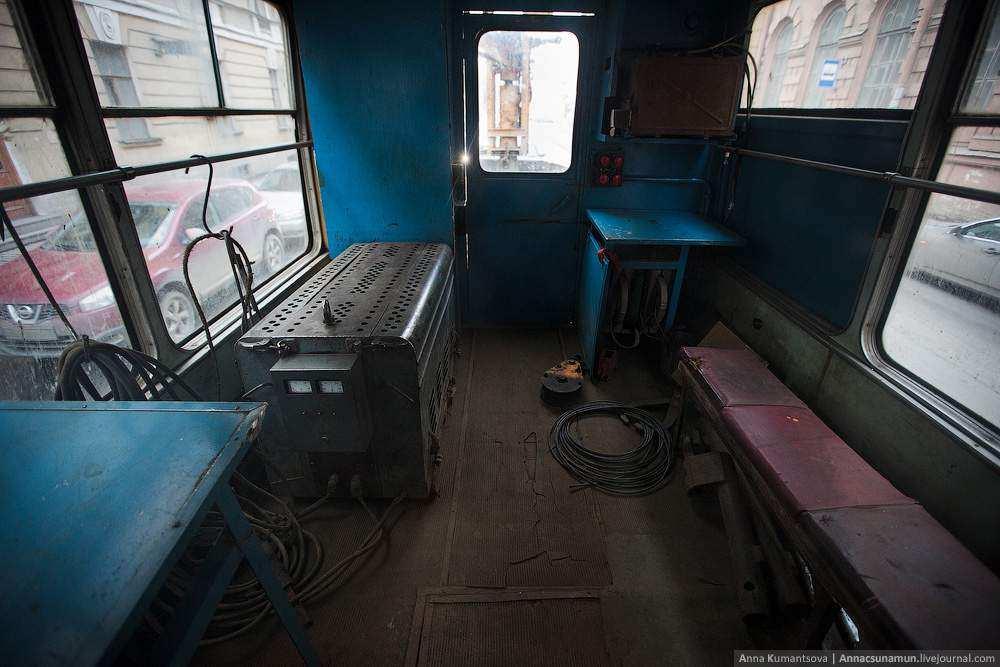 Гостеприимный служебный трамвай