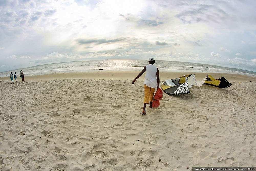 Кайтсерфинг в Африке