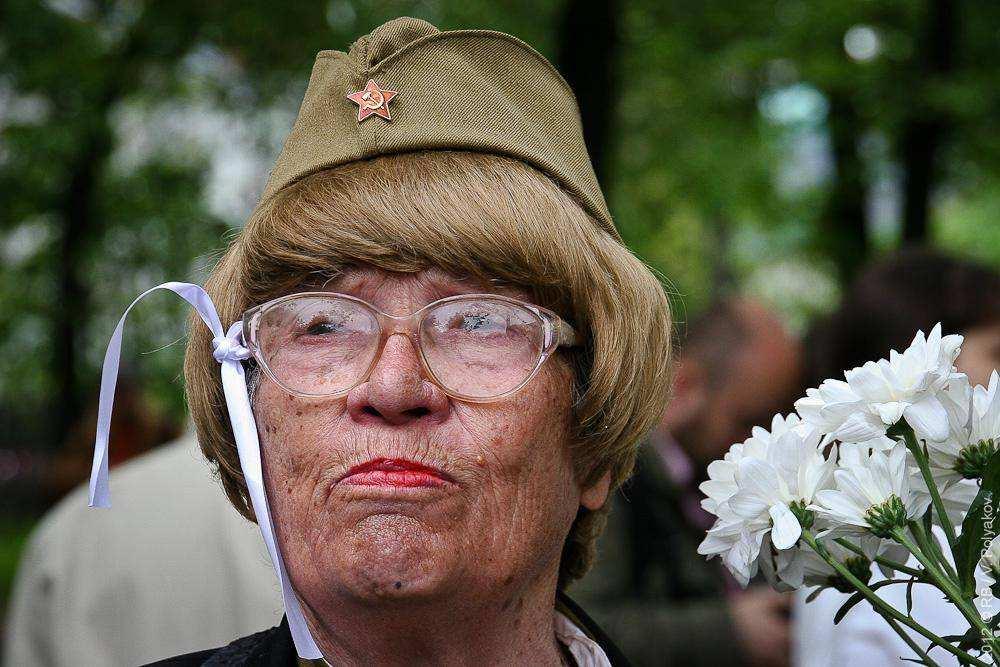 Ветеран в протестном лагере ОккупайАбай