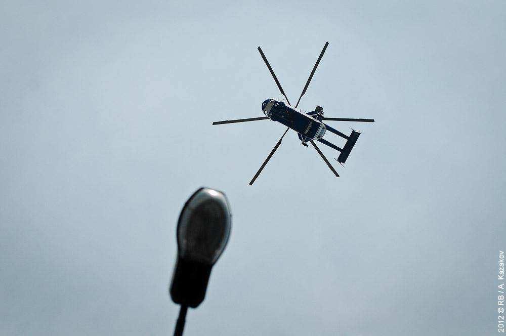 Полицейский вертолет. Марш миллионов 12 июня 2012 года
