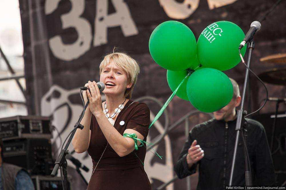 Евгения Чирикова. Марш миллионов 12 июня 2012 года