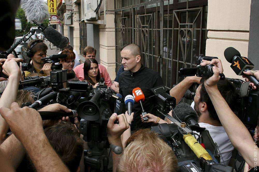 Сергей Удальцов после обыска