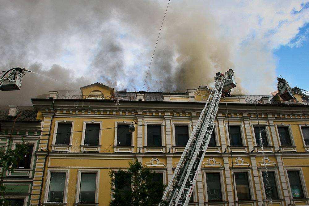 Пожар в Столешниковом переулке