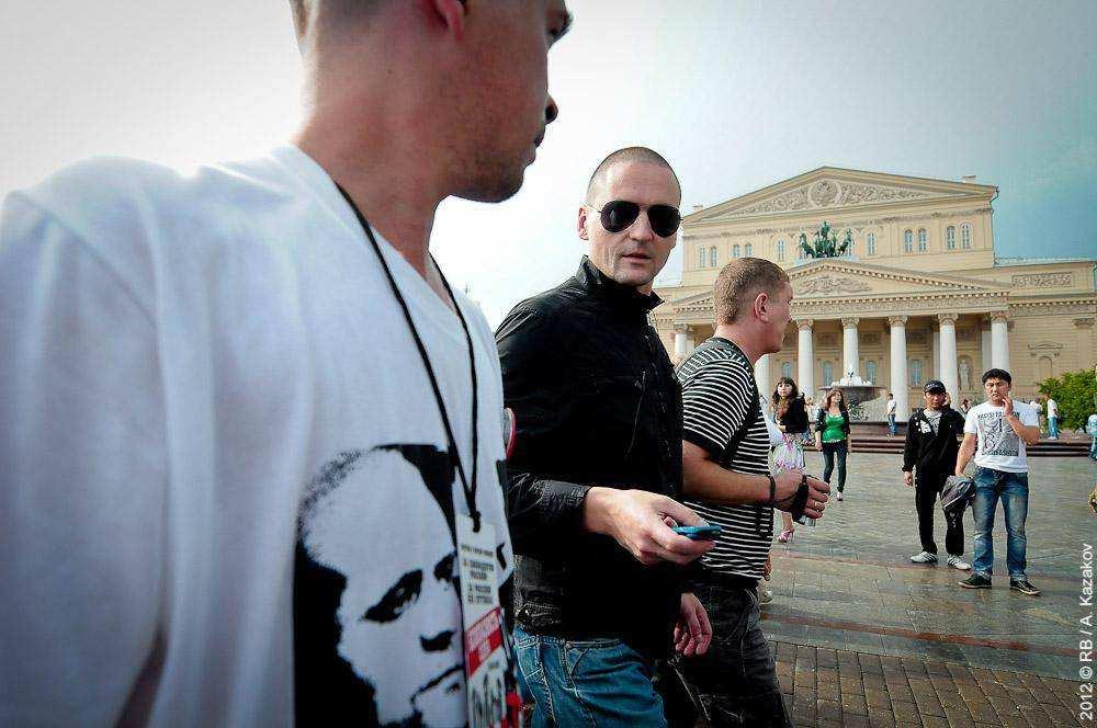 Сергей Удальцов возле Большого театра