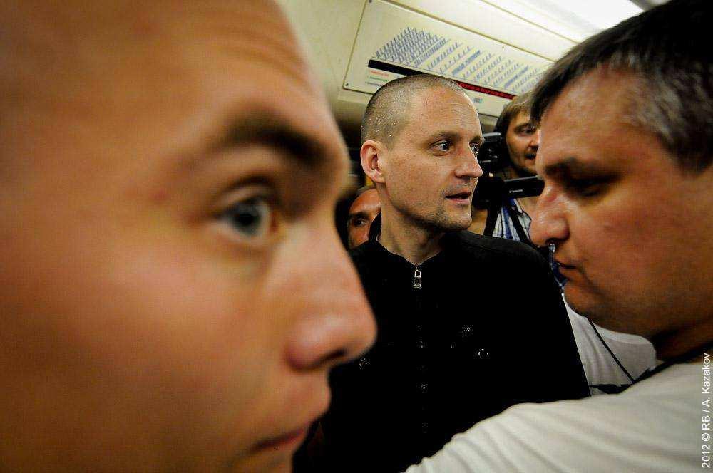 Сергей Удальцов в метро
