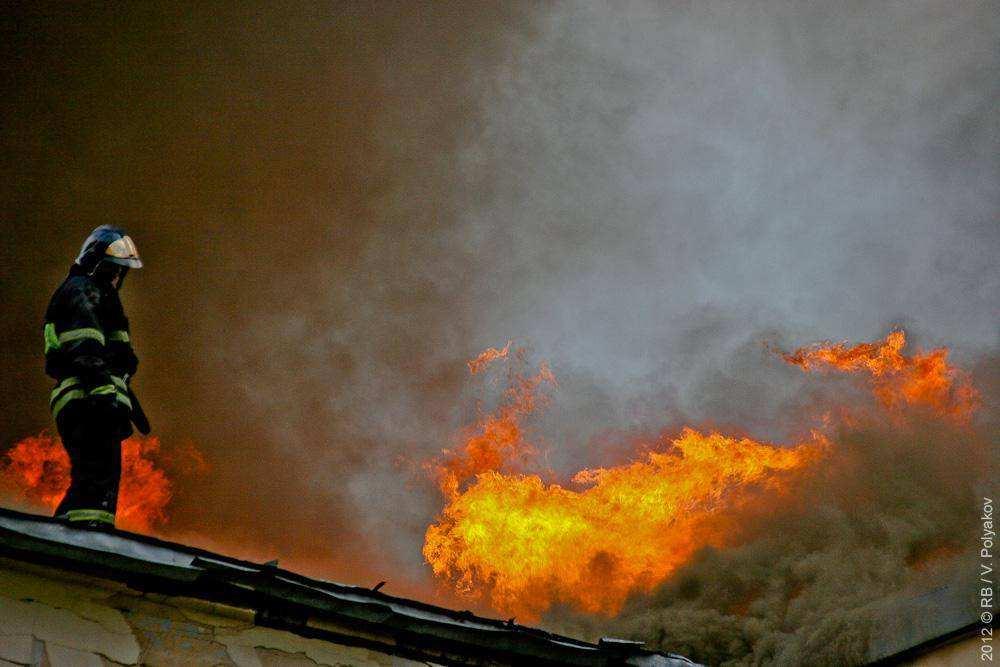 Пожар в академии Жуковского
