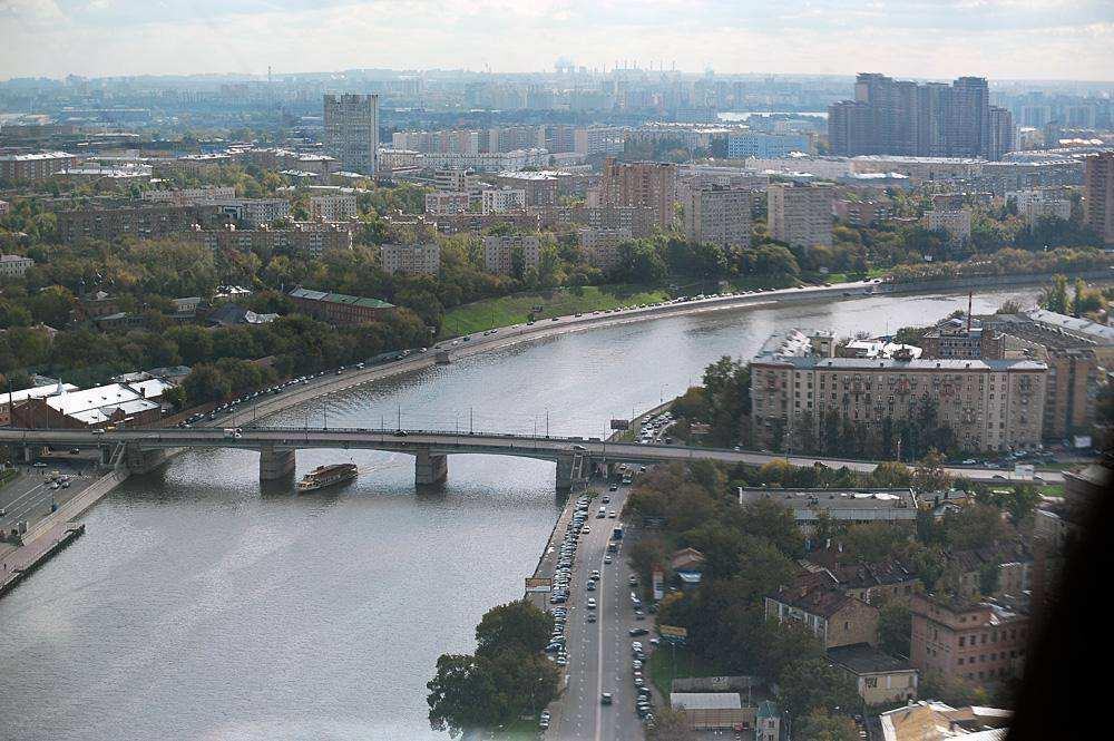 Москва с высоты. Башня на Павелецкой