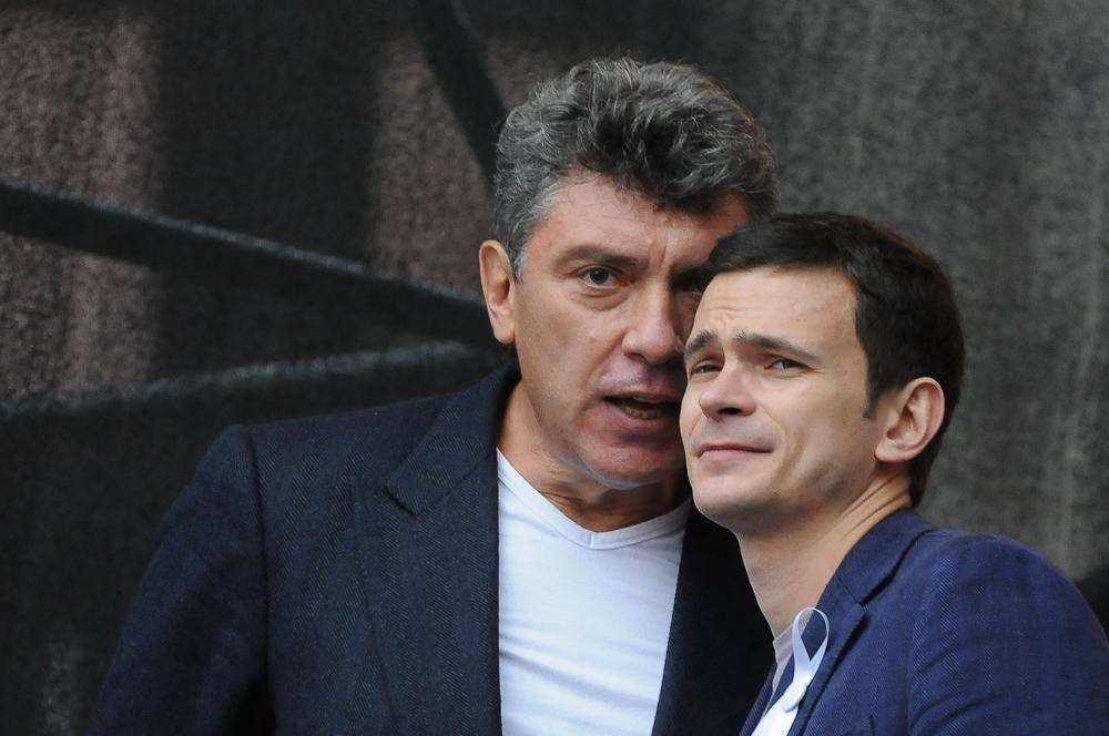 Борис Немцов и Илья Яшин. Третий Марш миллионов 15 сентября
