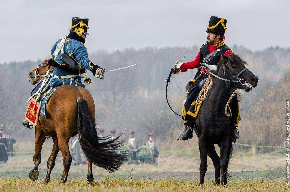 Реконструкция битвы 1812 года под Малоярославцем