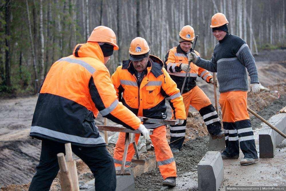Строительство трассы М-11 Москва - Санкт-Петербург