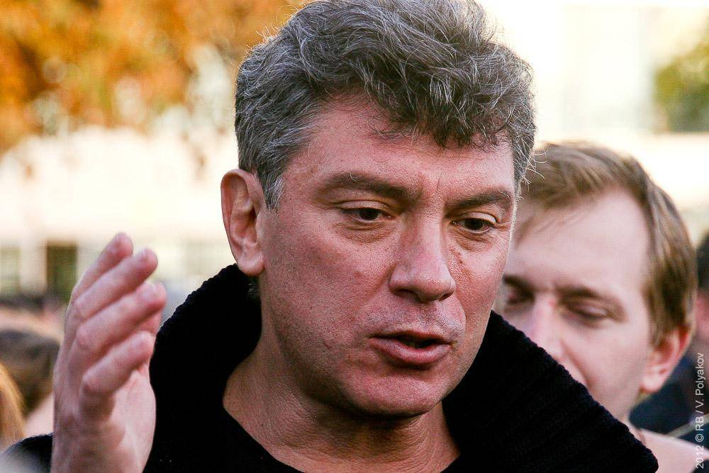 Борис Немцов. Митинг оппозиции в поддержку выборов в КС