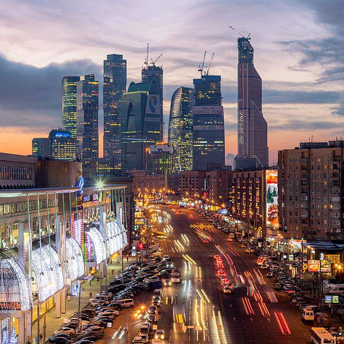 Окрестности Киевского вокзала с крыш