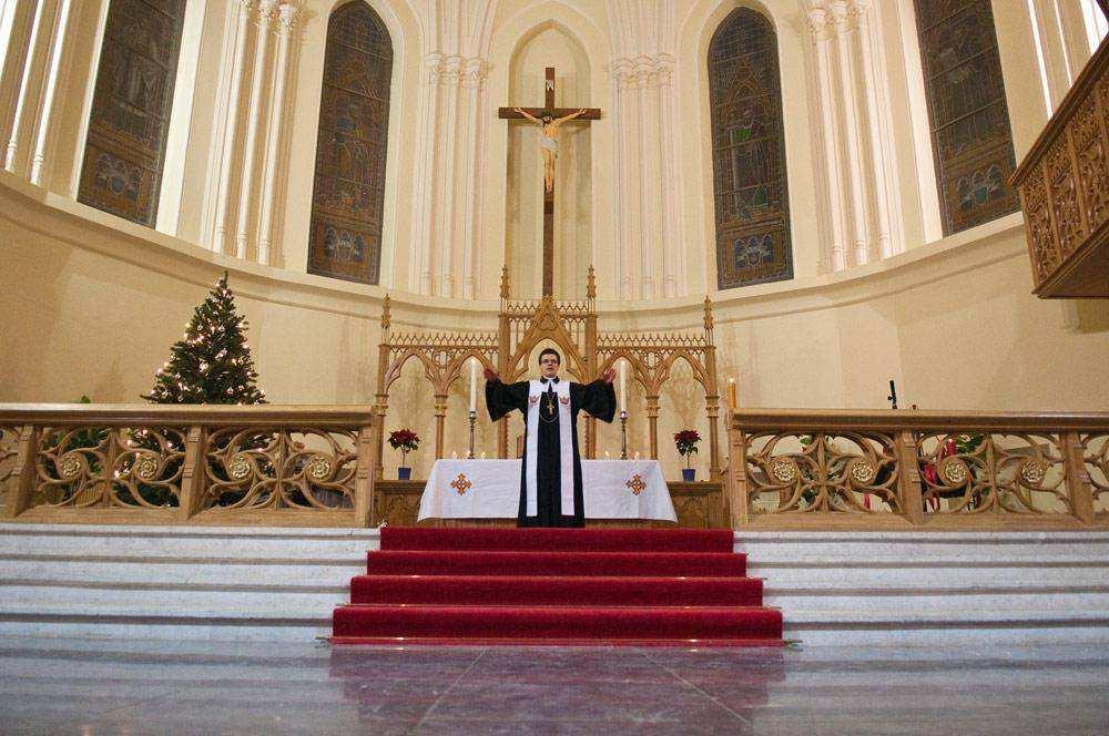 Сочельник в Кафедральном Соборе в Старосадском переулке