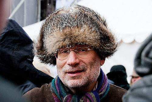 Борис Акунин на одной из массовых оппозиционных акций
