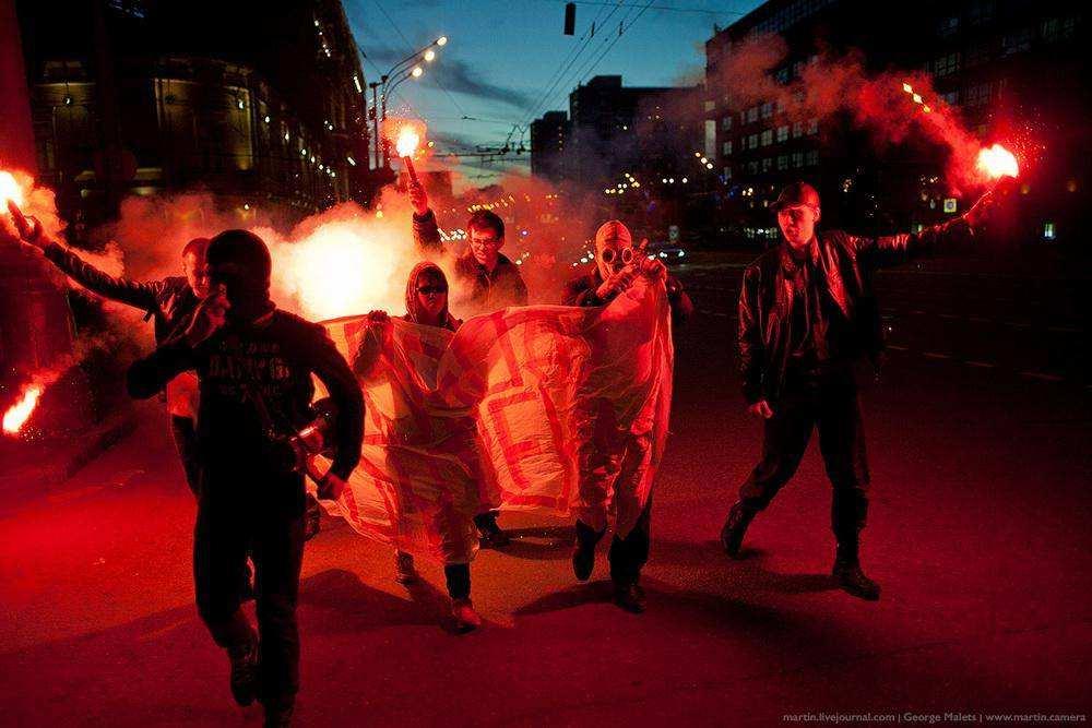 Акция «Свободу политзекам» на Садовом кольце