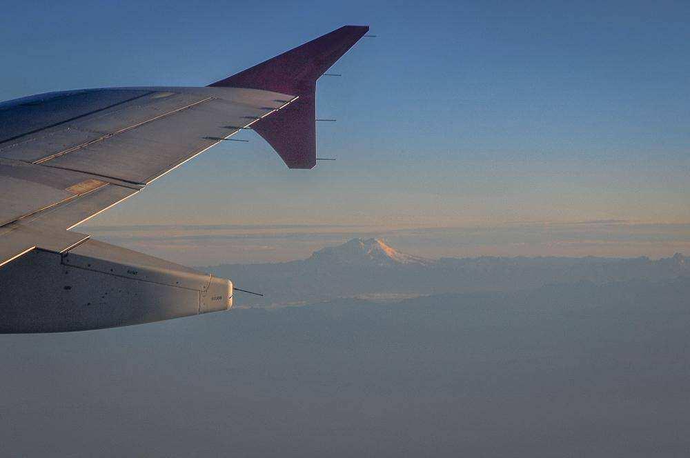 Эльбрус с самолета