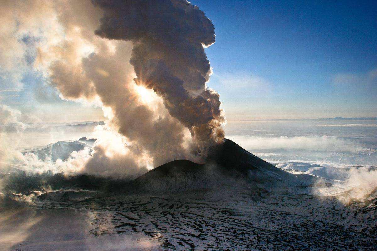 Извержение Толбачика. Камчатка
