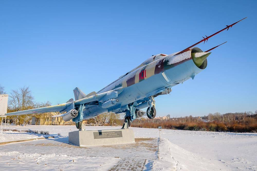 Путешествие по Беларуси. Памятник Сухому