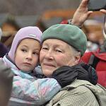 Москвичи встретили главного Деда Мороза России