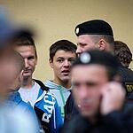 Задержания фанатов в центре Москвы