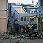 Пожар в  РЭУ им. Плеханова