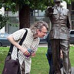Открытие скульптурной композиции Требуем Мира! Веры Мухиной
