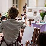 Живопись на пленэре в Нескучном саду