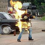 Каскадёры зажгли в Сетуни