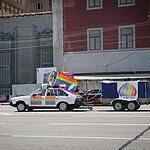 Акция ЛГБТ против гомофобии