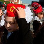 Зюганов принимает школьников в пионеры