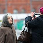 Москвичи гуляют в первый день 2013-го года