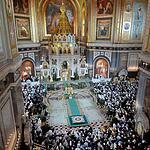 Торжественное рожественское богослужение в Храме Христа Спасителя
