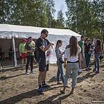Перед палаткой регистрации