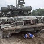 Прохождение полосы под танками.