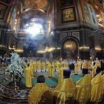 Ночная служба в Храме Христа Спасителя