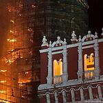 Пожар в Новодевичьем