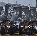 В парадном строю на Красной площади...