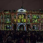 Световое шоу «Мистерия света» на фасаде Зимнего дворца