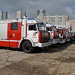 Конкурс по маневрированию на пожарном автомобиле.