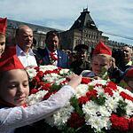 На Красной площади принимали. В пионеры