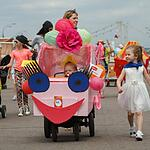 Парад детских колясок в Парке Горького