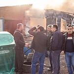 Пожар на севере Москвы