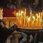 Пожарные в храме Христа Спасителя